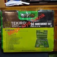 Hand Socket Set 1/4inch-1/2inch 94 PCS TEKIRO
