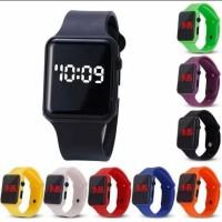 Jam Tangan LED Digital Fashion Watch Rubber Pria Wanita / Anak Remaja