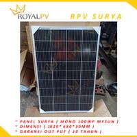 Panel surya 100wp solar panel 100wp solar cell 100wp MONO