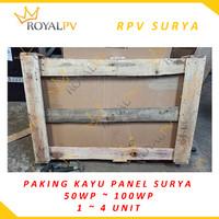 PAKING KAYU PANEL SURYA 80WP-100WP