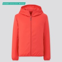 Jaket Parka Uniqlo wanita Saku UV Protection 13 Red