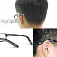 Anti Slip Kacamata Silicone Merosot Earhook Ear Hook - Hitam