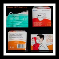 Masker Neo Surgical Mask 50's Headloop Grey - 1 Box isi 50 pcs - Hijau - Hijau