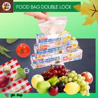 Zipper bag double lock 16x14 kantong penyimpanan makanan plastik klip