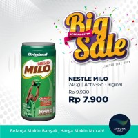 [BIG SALE] NESTLE MILO Activ-Go Original Kaleng 240ml