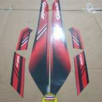 Striping List Body Honda Genio ISS 2019 - Hitam Merah