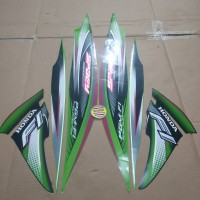 Striping List Body Honda Spacy Fi 2012 - Hijau