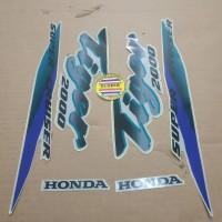 Striping List Body Honda Tiger 2000 - Silver Hijau Ungu