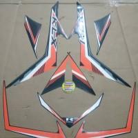 Striping List Body Kawasaki KLX 150 - Hitam Orange