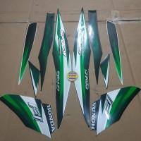 Striping List Body Honda Spacy Fi 2013 - Hitam Hijau