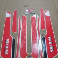 Striping List Body Honda Win 100 1994 - Putih Merah
