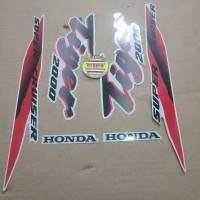 Striping List Body Honda Tiger 2000 - Silver Merah