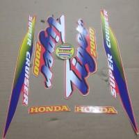 Striping List Body Honda Tiger 2000 - Merah Biru
