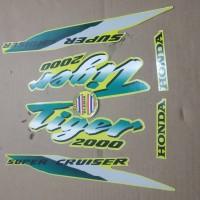 Striping List Body Honda Tiger 2000 - Kuning Hijau