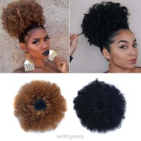 Clip In Curly Drawstring Extensions Fashion Party Puff Style Hair