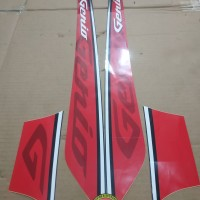Striping List Body Honda Genio 2019 - Hitam Merah