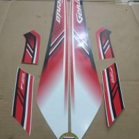 Striping List Body Honda Genio ISS 2019 - Putih Merah