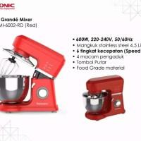 Termurah dan Resmi Mixer Roti Grande Pensonic PMI-6002 Red / Merah