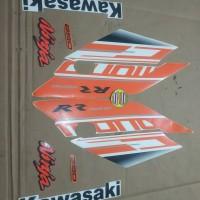 Striping List Body Ninja 250 RR Mono 2017 - Putih Orange