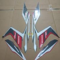 Striping List Body Honda Vario Techno 110 CBS 2011 - Hitam Merah