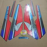 Striping List Body Honda Win 100 1991 - Hitam Biru Merah