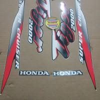 Striping List Body Honda Tiger 2000 - Hitam Putih Merah