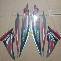 Striping List Body Honda Spacy Fi 2012 - Hitam