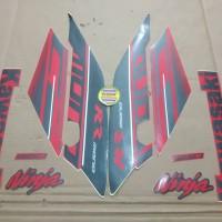 Striping List Body Ninja 250 RR Mono 2017 - Merah Abu