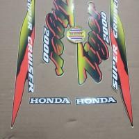 Striping List Body Honda Tiger 2000 - Hitam Kuning Merah