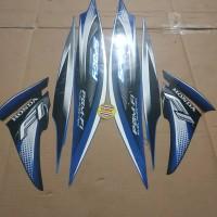 Striping List Body Honda Spacy Fi 2012 - Biru