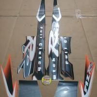 Striping List Body F1 ZR Clutch 2001 - Hitam Orange Silver