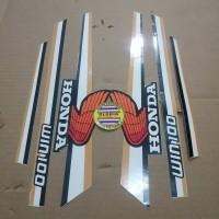 Striping List Body Honda Win 100 - Hitam Putih Coklat