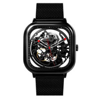 Xiaomi CIGA T Series Jam Tangan Mechanical Watch Skeleton Model Kotak - Hitam
