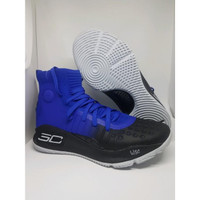 Sepatu Basket U.A Curry 4 Blue Black Man Murah