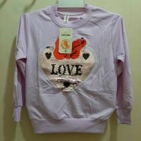 Atasan (Sweater) Anak Perempuan 3-5 tahun motif Gambar love usap