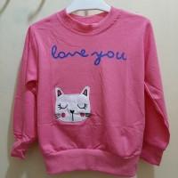 Atasan (Sweater) Anak Perempuan 3-5 tahun wayne kinds karakter kucing
