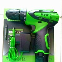 mesin bor baterai cordless drill tekiro RYU rcd 12v-1
