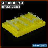 Rak Botol Benih Plastik / Plastic Seed Bottle Rack - 96 holes @ 0.2 ml