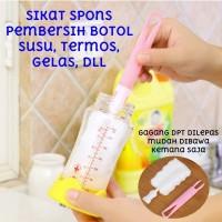 Sikat Spons Pembersih Botol Minum Susu Gelas Sponge Cleaning Brush