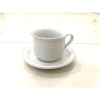 JM Cangkir gelas set Keramik putih 12 pcs 230 ml LIS MAS mirip NIKURA