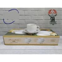 JM Cangkir gelas set Keramik putih 12 pcs 200 ml POLOS MIRIP NIKURA