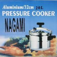 NAGAMI PANCI PRESTO PRESSURE COOKER 20 LITER 20L / 32cm MIRIP GETRA