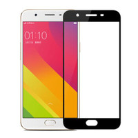 Tempered Glass warna Full cover Oppo F1S / A59 - Hitam - Hitam