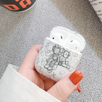 Protection iphone airpods case hypebeast casual keren kekinian KAWS 3 - Putih
