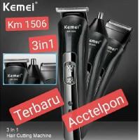 clipper kemei km 1506 3 in 1 alat cukur rambut hidung kumis
