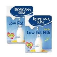 Tropicana Slim Low Fat Milk Vanilla 500 gr x 2 Pcs