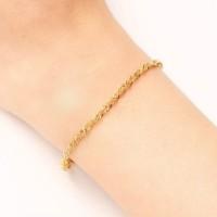 gelang titanium wanita gold silver anti karat