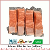 Fillet Salmon (belly On) 250 gr/Trout/Salmon Fillet Norway/Fillet Ikan