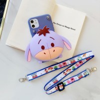 Case IPHONE 6 6S 7 8 Plus 11 Pro Max 11 Casing Tali + Dompet Cute Unik