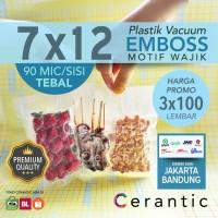 Plastik Vacum Emboss 7x12 / Vacuum Bag Embossed | isi 3 pack